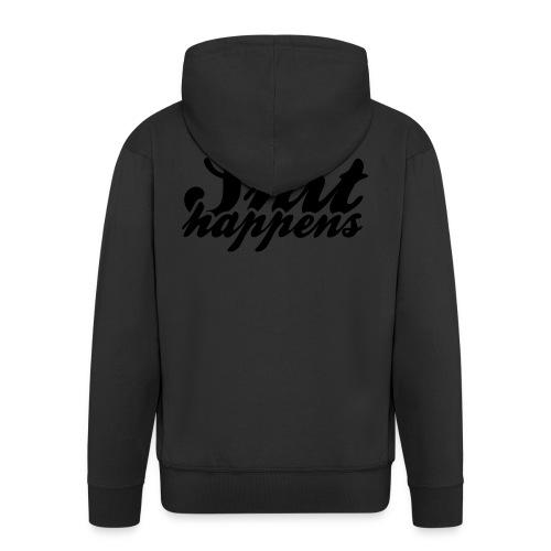 Shit Happens and Politics - Men's Premium Hooded Jacket