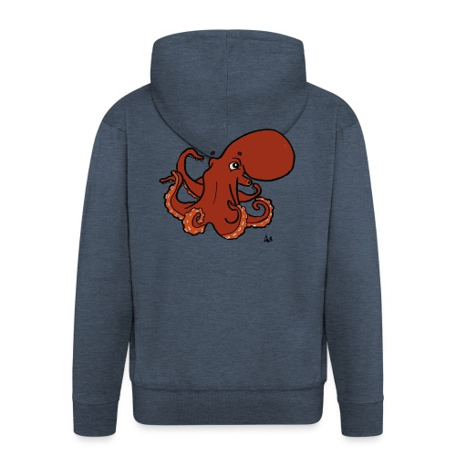 Giant Pacific Octopus - Men's Premium Hooded Jacket