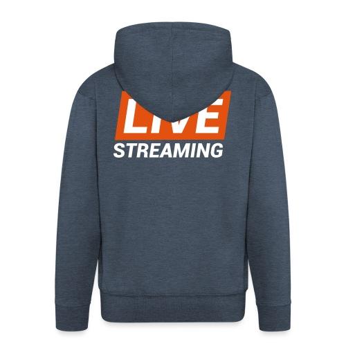 LIVE streaming - Felpa con zip Premium da uomo