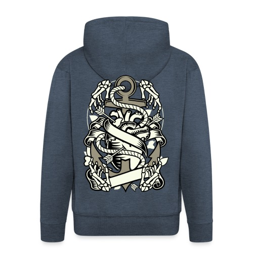 Heart and anchor - Männer Premium Kapuzenjacke