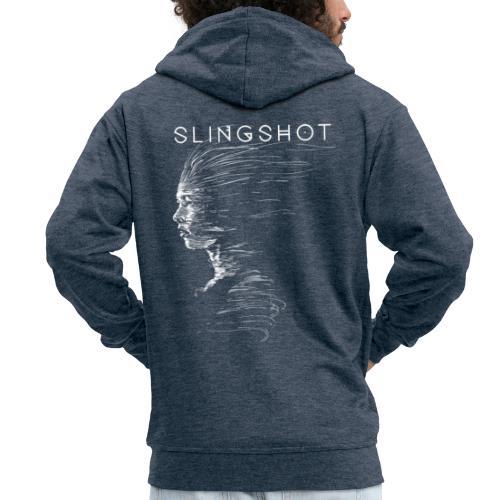 Slingshot with title - Men's Premium Hooded Jacket