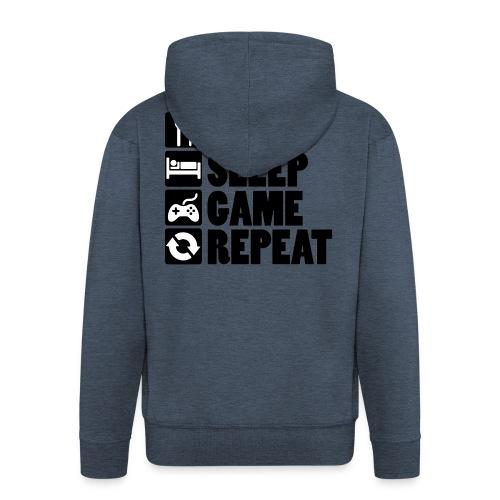 Eat Sleep Game Repeat - Herre premium hættejakke