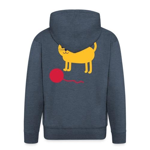 Katze mit Wollknäul - Männer Premium Kapuzenjacke