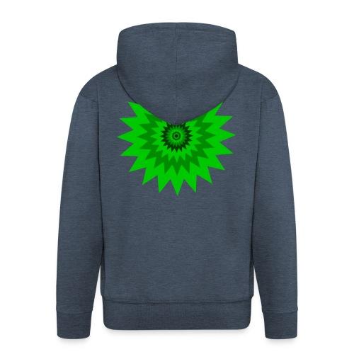 Grüne Sonne - Männer Premium Kapuzenjacke