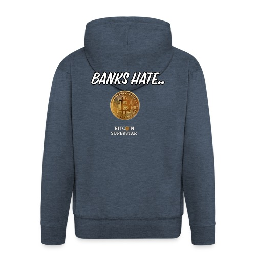 Baks hate - Felpa con zip Premium da uomo