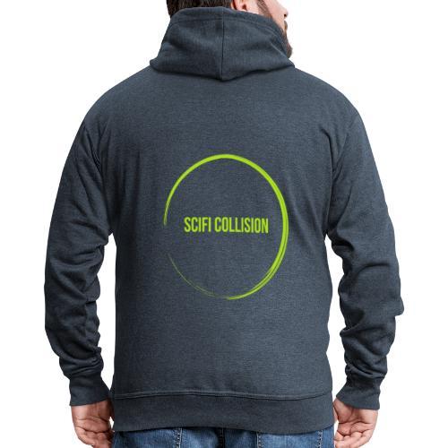 Lime Green SC Logo - Men's Premium Hooded Jacket