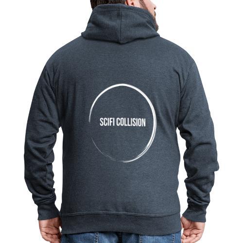 White Logo - Men's Premium Hooded Jacket