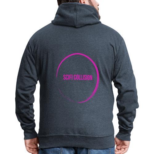 Pink Logo - Men's Premium Hooded Jacket