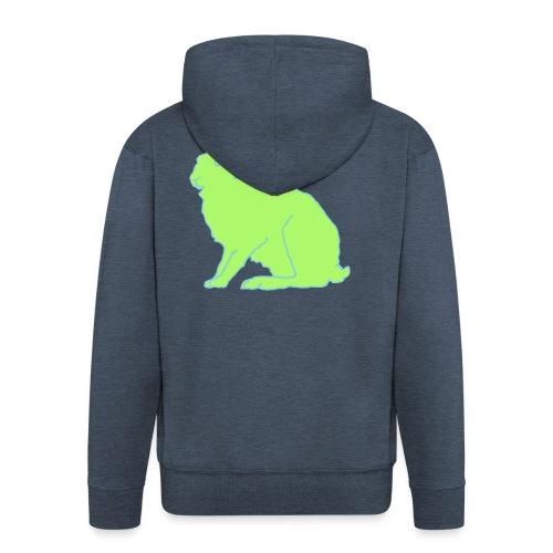 Grüner Hase - Männer Premium Kapuzenjacke