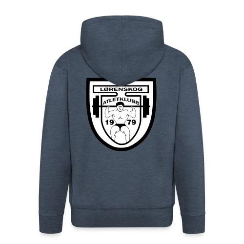 lrenskog atletklubb logo3 - Premium Hettejakke for menn