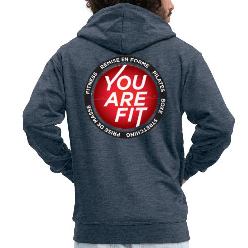 You Are Fit® Sportswear Design - Veste à capuche Premium Homme