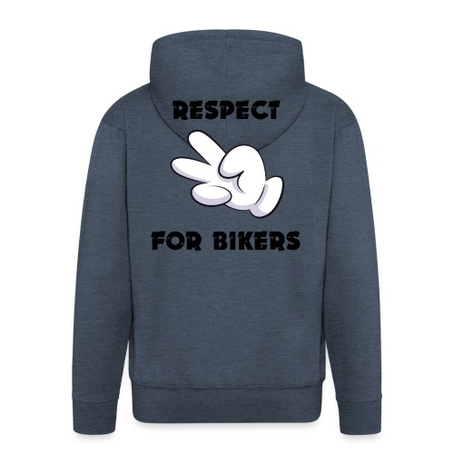 Respect for Bikers - Felpa con zip Premium da uomo