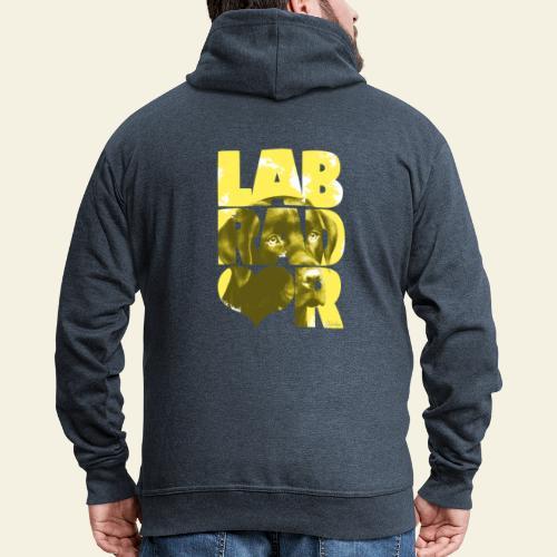 NASSU Labrador Brown I - Miesten premium vetoketjullinen huppari