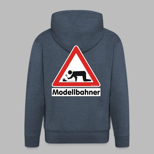 Warnschild Modellbahner E Lok - Männer Premium Kapuzenjacke