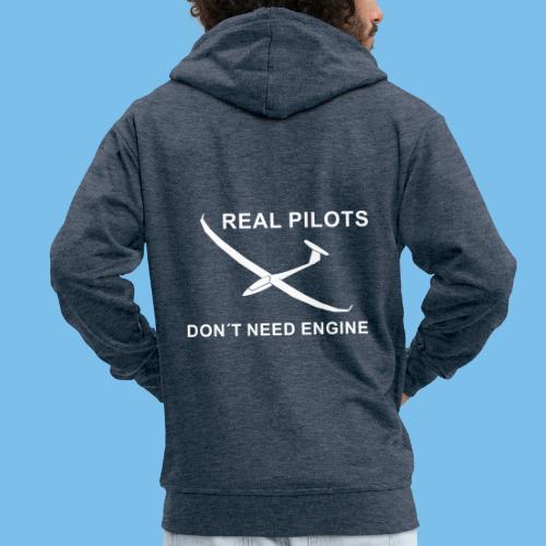 Pilot Segelflieger gleiten Segelflugzeug Geschenk - Männer Premium Kapuzenjacke