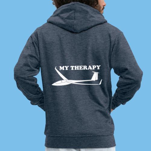 Therapie Segelflieger gleiten Segelflugzeug - Männer Premium Kapuzenjacke