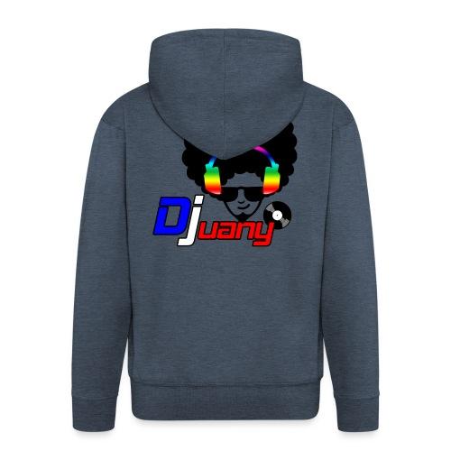 Djuany logo - Felpa con zip Premium da uomo