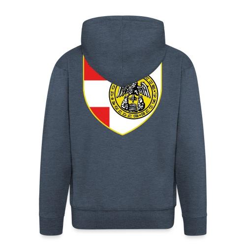 scudo simbolo comunità Valsesiana - Felpa con zip Premium da uomo
