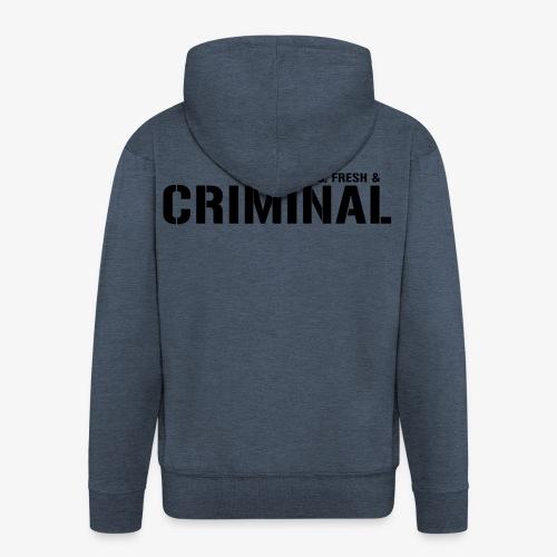 Y F CRIMINAL Logo Black - Männer Premium Kapuzenjacke