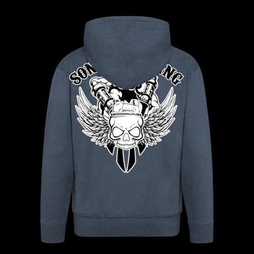 Sons Of Vaping - Felpa con zip Premium da uomo