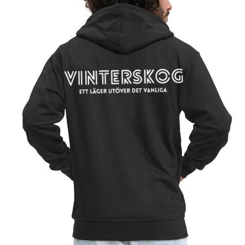 Vinterskog med vitt tryck - Premium-Luvjacka herr