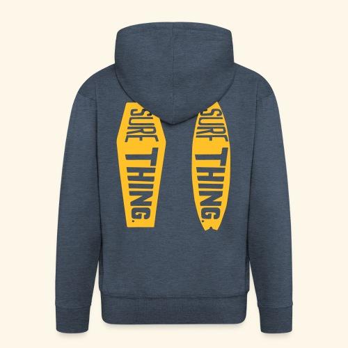 surf thing for sure - Felpa con zip Premium da uomo