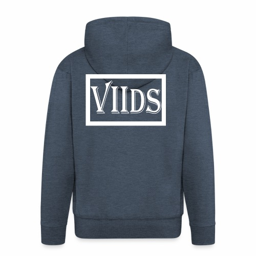 Viids logo - Rozpinana bluza męska z kapturem Premium