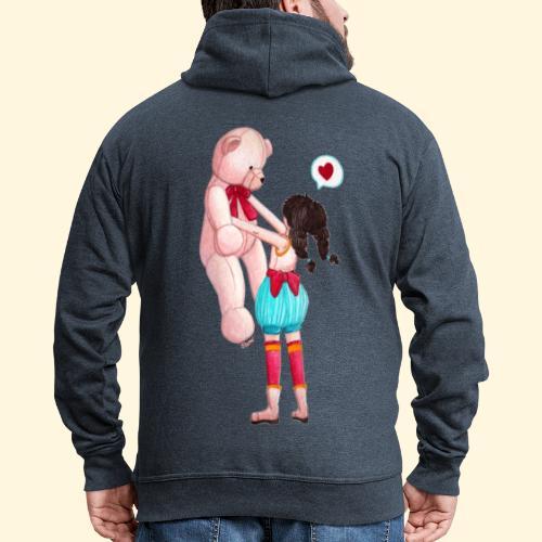 Fille au Nounours géant - Veste à capuche Premium Homme