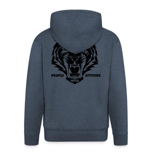 tijger-zwart - Mannenjack Premium met capuchon