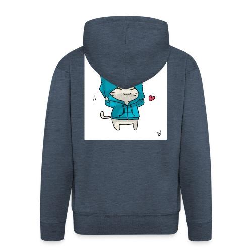 Gato con traje azul - Chaqueta con capucha premium hombre
