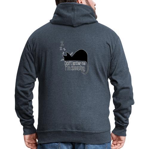 Sleeping cat black - Men's Premium Hooded Jacket