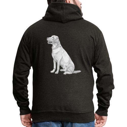 labrador Retriever Yellow - Ink - Herre premium hættejakke