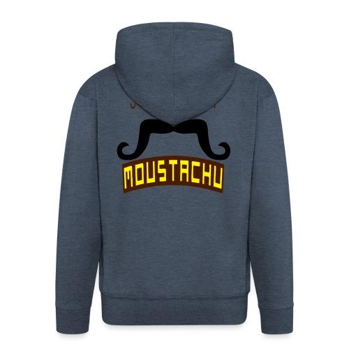 citation moustache suivez moi moustachu - Veste à capuche Premium Homme