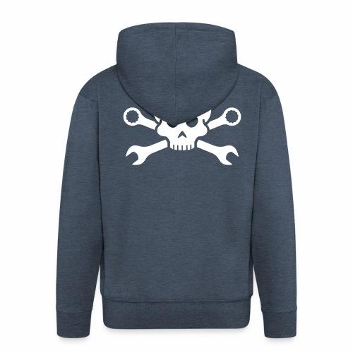 Skull'n'Tools Pirate Skull - Men's Premium Hooded Jacket