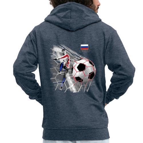 GP22F-04 RUSSIAN FOOTBALL TEXTILES AND GIFTS - Miesten premium vetoketjullinen huppari