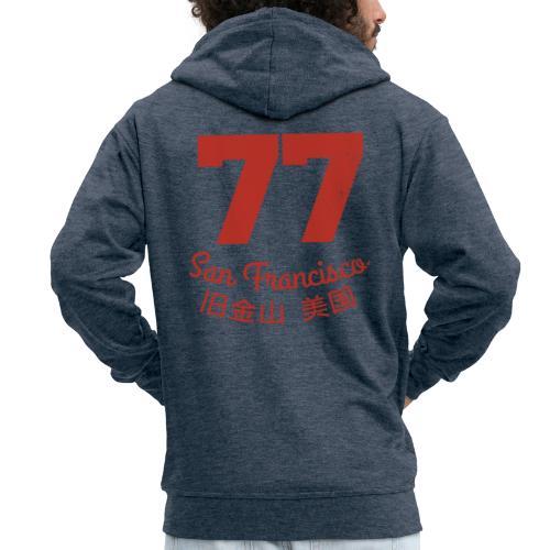 77 san francisco usa - Männer Premium Kapuzenjacke