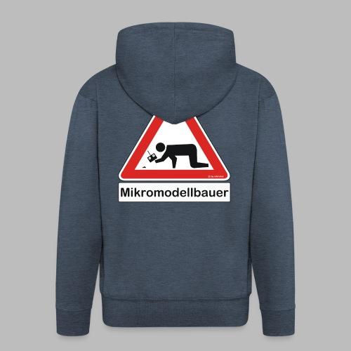 Warnschild Mikromodellbauer Auto - Männer Premium Kapuzenjacke