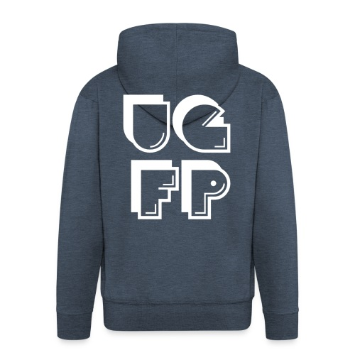 UG FP Acronym but arranged differently - Men's Premium Hooded Jacket