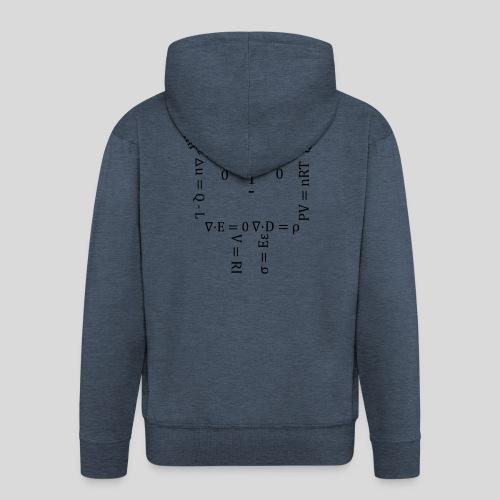 Short Human Equation - Felpa con zip Premium da uomo
