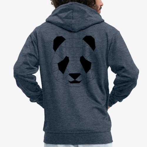 Panda schwarz - Männer Premium Kapuzenjacke