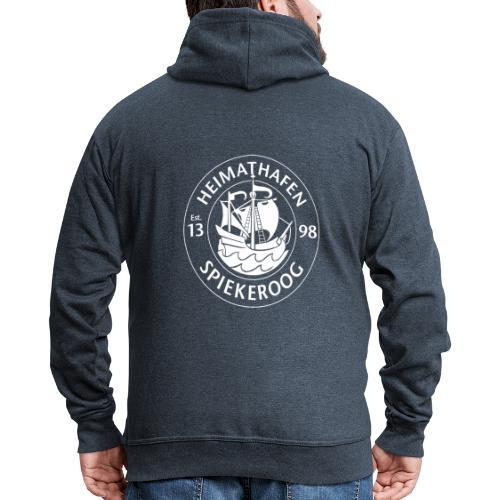 Heimathafen Logo Weiß - Männer Premium Kapuzenjacke