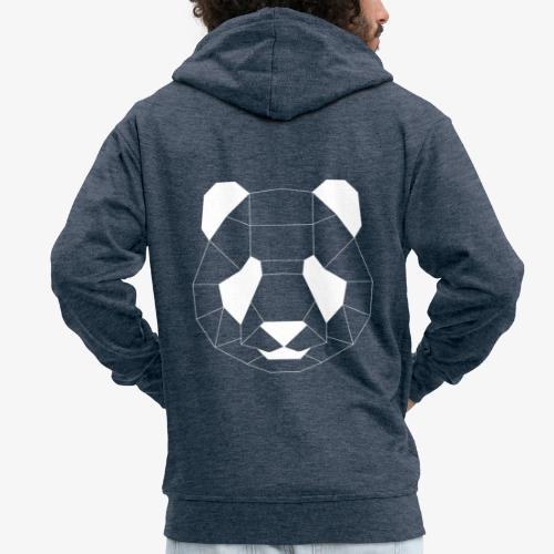 Panda Geometrisch weiss - Männer Premium Kapuzenjacke
