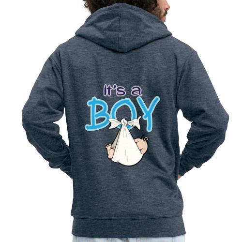 Babyshower Boy Blauw - Mannenjack Premium met capuchon