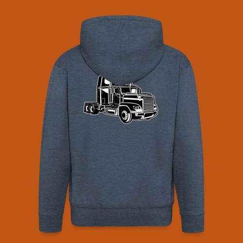 Truck / Lkw 02_schwarz weiß - Männer Premium Kapuzenjacke