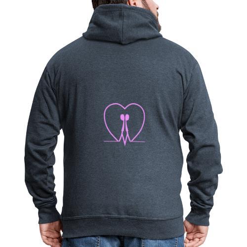 Non nascondere l'uguaglianza... MAN PINK - Felpa con zip Premium da uomo