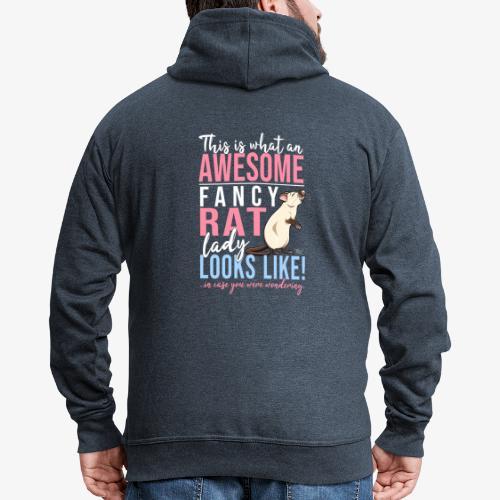 Fancyrat Awesome IV - Miesten premium vetoketjullinen huppari