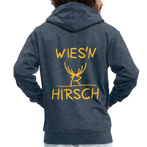 Wiesn Hirsch! Oktoberfest - Männer Premium Kapuzenjacke