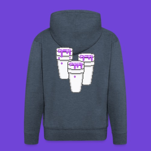 Purple - Felpa con zip Premium da uomo