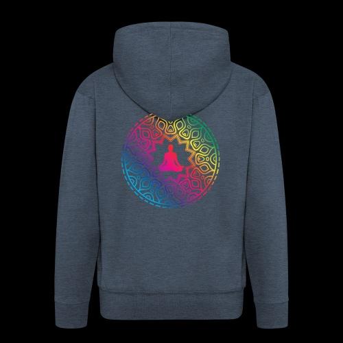 Mindfulness - Meditation design - Rozpinana bluza męska z kapturem Premium