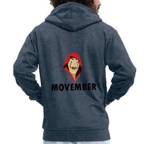 Le mois de la moustache - Veste à capuche Premium Homme